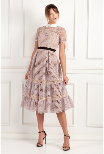 Crosshatch Tiered Dress