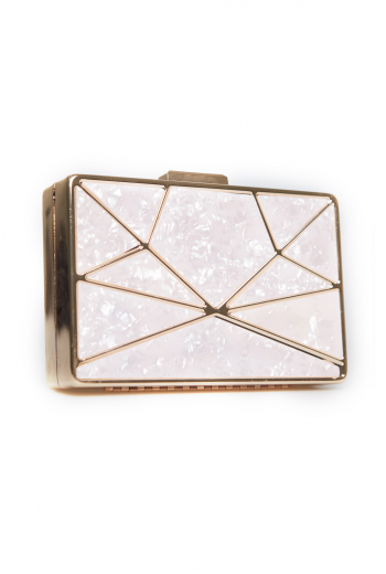 Geometric Design Evening Clutch Bag