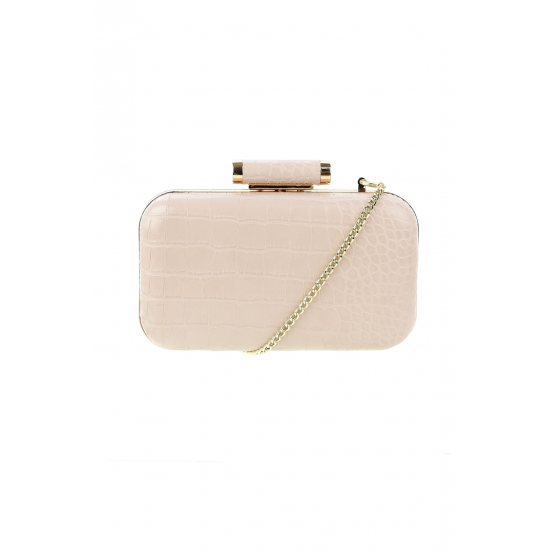 Nude Structured Clutch
