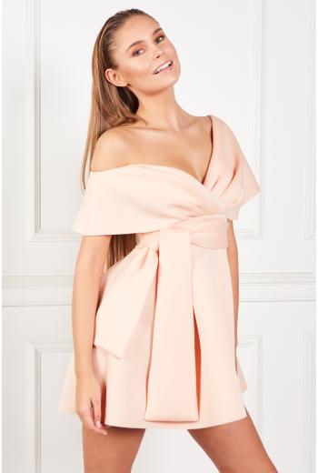 Mini Dress With Tie Detail