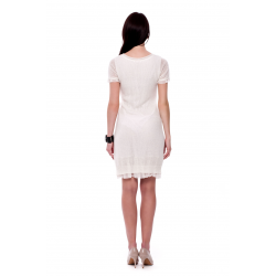 White Knitted Mohair Dress
