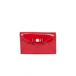 Clear Red Leather Bag