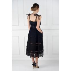 Bow Strap Midi Dress