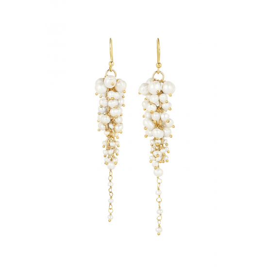 Bravi Gold Pearl Earrings