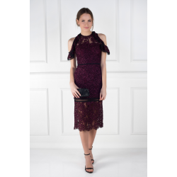 Burgundy Evie Dress
