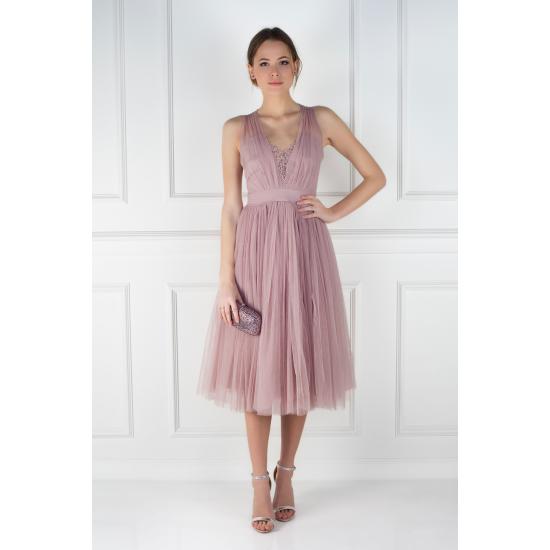 Dust Lilac Cherie Dress