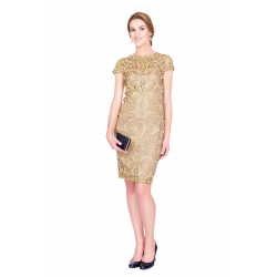 Golden Embroidery Dress