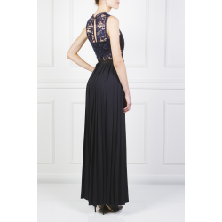 Guipure Lace Georgette Gown