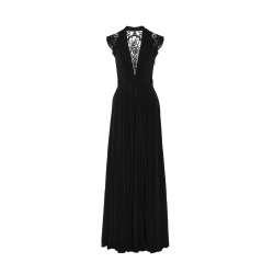 Laced Jersey Gown