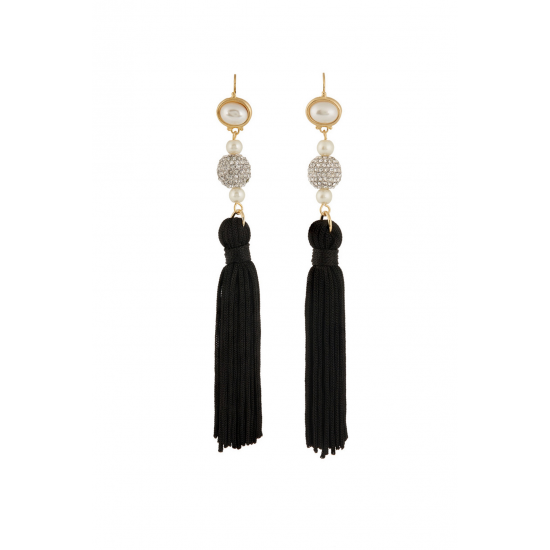 Multi-stone Tassel Earrings
