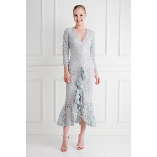 Nadege Ruffled Midi Dress