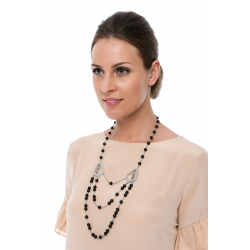 Black And Silver Elegance Necklace