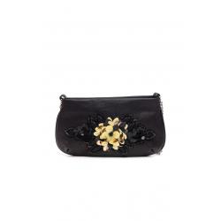 Black Beaded Clutch Bag
