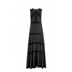 Black Chiffon Gown