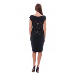 Black Elegant Neoprene Dress