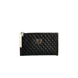 Black Quilted Eco Leather