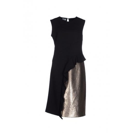 Black and Gold Sequin Dress