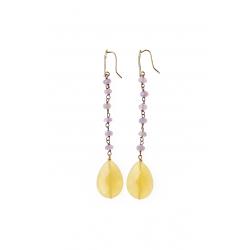 Brass Crystal Earrings