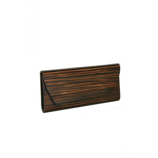 Brown Wooden Clutch