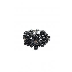 Black Floral Bracelet
