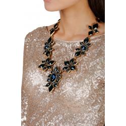 Floral Crystal Necklace
