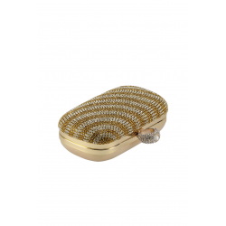 Gold Stripe Classic Clutch