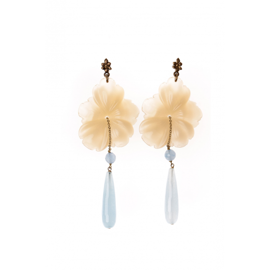 Ivory Flower Earrings