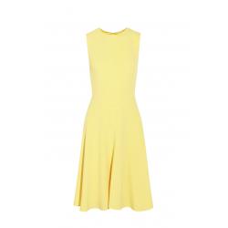 Light Yellow Crepe Dress