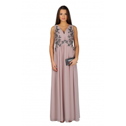 Applique Bodice Maxi Dress